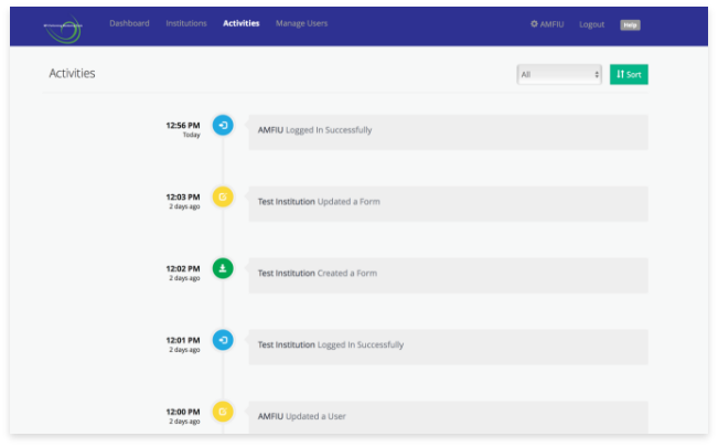 Activity Logging Interface